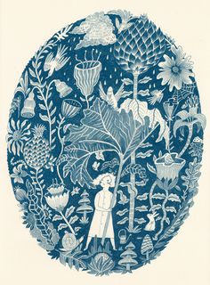Coyote Atelier silkscreen inspiration: Melissa Castrillon's Botanical Bonanza, Single colour screen print in indigo blue. Art And Illustration, Botanical Illustration, Impressions Botaniques, Illustration Botanique, Posca Art, Ouvrages D'art, Art Graphique, Art Design, Botanical Prints