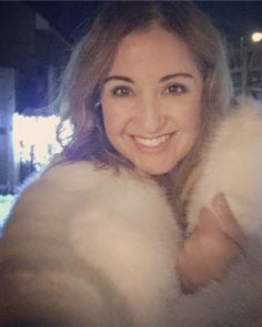 White Faux fur coat by Michael kors/ winter fashion / inspo