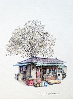 Me Kyeoung Lee: il·lustradora de botigues tradicionals