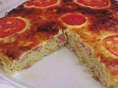 Πεντανόστιμη Τάρτα με ζυμαρικά !!! Cookbook Recipes, Cooking Recipes, Pasta Noodles, Pepperoni, Soul Food, Cooking Time, Starters, Lasagna, Quiche