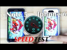 Note 5 Vs Iphone 6 Speed Test!