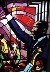 """Martin"" Stain Glass Window St. Luke ""Community"" United Methodist Church  in Dallas"