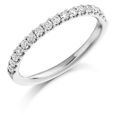 Micro-Claw Set 0.33ct Diamond Half Eternity Ring