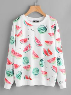 Shop Allover Watermelons Print Sweatshirt online. SheIn offers Allover Watermelons Print Sweatshirt & more to fit your fashionable needs.