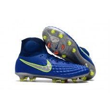 best cheap a89e9 16112 Mejores Botas De Futbol Nike Magista Obra II FG Azul Royal Cromo Carmesí  total