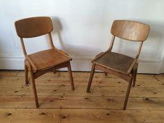 Unusual Wooden School Stacking Kitchen Dining Chairs Worn & Vintage Full Size | Somerset | Gumtree