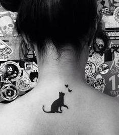 75 beautiful cat tattoos for women - new tattoo designs 2018 - Cat tattoo on the back - Black Cat Tattoos, Mini Tattoos, Trendy Tattoos, Animal Tattoos, Cute Tattoos, Beautiful Tattoos, Body Art Tattoos, New Tattoos, Small Tattoos