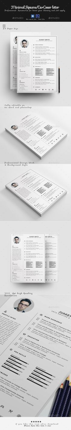 Clean Resume Template-V15 Words, Resume and Cleanses - buy a resume