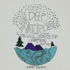 "A wise quote from a wise man, ""Look deep into nature and you will understand everything better."""