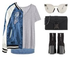 """""""Bomber season is every season"""" by baludna ❤ liked on Polyvore featuring Topshop, H&M, Zara, rag & bone and Christopher Kane"""