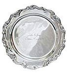 Victorian Style Platter $89 Each of our platters are made by the traditional craft of foundry sand molding. It's a detailed process, where sand molds are filled with molten metal, cooled and hand-finished one at a time. Minor differences add to the unique characteristics of each piece. Wedding Guest Book/ Unique Alternatives. Guest Book/Platters