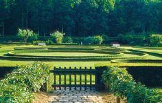 Hubert de Givenchy garden at his chateau in Loire Valley,Le Jonchet Garden Structures, Garden Paths, Garden Art, Garden Landscaping, Garden Design, Love Garden, Dream Garden, Formal Gardens, Outdoor Gardens