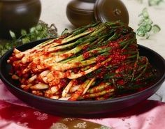 Korean Food | Pa Kimchi | Green Onion Kimchi