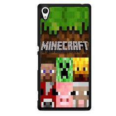 Minecraft Character TATUM-7263 Sony Phonecase Cover For Xperia Z1, Xperia Z2, Xperia Z3, Xperia Z4, Xperia Z5