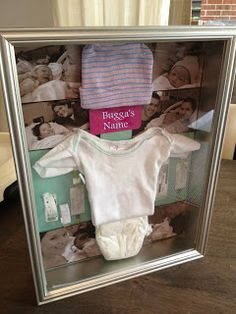 DIY Baby's First Day Memory Box ~ preserve and display all the mementos from the hospital... Black onsie