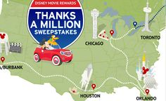 "Enter to Win the Disney Movie Rewards ""Thanks a Million Sweepstakes"""
