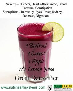 "Healthy juice recipes 59602395055414296 - Take 1 beetroot, 1 carrot – Detox J. - My Pins - Healthy juice recipes 59602395055414296 – Take 1 beetroot, 1 carrot – Detox Juice Recipes""> - Detox Diet Drinks, Natural Detox Drinks, Healthy Juice Recipes, Healthy Juices, Healthy Smoothies, Healthy Drinks, Detox Juices, Cleanse Detox, Detox Recipes"