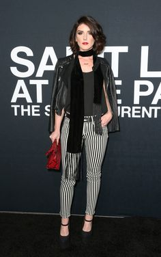 Shenae Grimes Leather Jacket - Newest Looks - StyleBistro