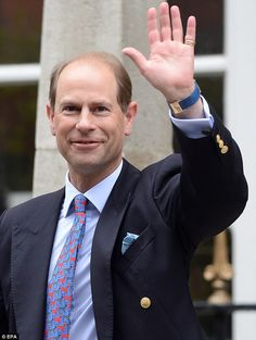 Prince Edward, Earl of Wessex, turns 50 tomorrow, 10th March 2014, and celebrations are being held today at his home