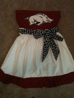 Hogs dress. Cute design to go off of @Leeann Driscoll