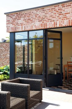 Luxal aluminium French door and fixed lights Best Picture For french doors exterior For Your Taste You are looking for something, and it is going to tell you exactly what you are looking for, and you Aluminium Joinery, Aluminium French Doors, Aluminium Front Door, Aluminium Sliding Doors, The Doors, Back Doors, Windows And Doors, Inside Doors, Indoor Barn Doors