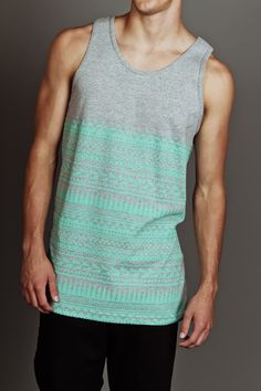 Tribal Tank Heather/Grey Mint