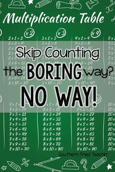 Teaching and practicing skip counting and multiples doesn't have to be boring. Here are two simple ways to make learning multiples easy and fun. Get your students ready for multiplication success!