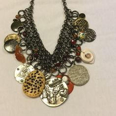 "New Without tags CHICOS bib necklace Purchased and never worn..measures adjustable 12"" drop Chico's Jewelry Necklaces"