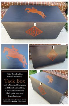 I am going to start redoing my tack box over spring break and I love the lookof this.