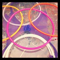 MINI Hoop Twin poi hoops 22 diameter 3/4 polypro by CraftySquid, $18.00