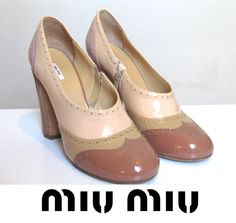 MIU MIU Spectator shoes  1990 by by CubesandSquirrels on Etsy, $175.00