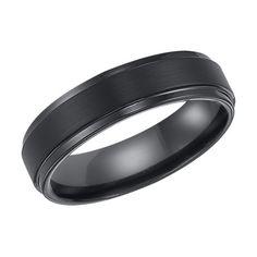 Cambridge Black Tungsten Carbide 6mm Comfort-fit Wedding Band - Overstock™ Shopping - Big Discounts on Cambridge Men's Rings