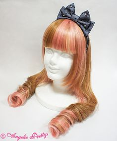 Lolibrary   Angelic Pretty - Hair accessories - Princess Dot Tulle Head Bow