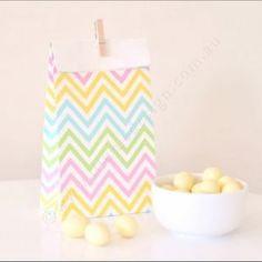 These chevron pastel...