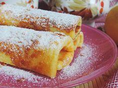 Nyári palacsinta sütőben sütve! Nem kell a tűzhely mellett állnod, ha finomságra vágyik a család! Cakes And More, Cornbread, Biscotti, Pancakes, French Toast, Recipies, Cheesecake, Food And Drink, Sweets