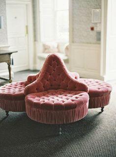 Velvet seating area | alexandreweddings.com