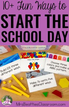 Are you looking for meaningful morning activities for your classroom? Limit the worksheets and check out some hands-on, curriculum-related ideas that will get your students learning from the moment they walk in the classroom! From brain breaks to warm-up