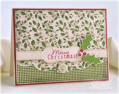 Merry Christmas card by Debbie Olson for Papertrey Ink (September 2011).