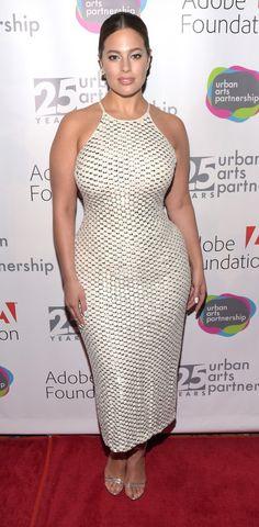 Ashley Graham in Badgley Mischka attends the celebration of Urban Arts Partnership 25th Anniversary Benefit. #bestdressed