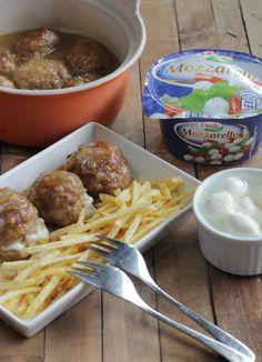 Receta de albóndigas con mozzarella. Una nueva versión a un plato clásico con los mejores ingredientes de ALDI. Descubre sus trucos