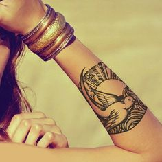 Swallow / Jack Sparrow Temporary Tattoo Design Rub On Individual by ABlinkInk
