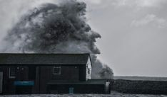 Photographer captures incredible moment wave forms 'witch's face' during Storm Dennis - Daily Star Windy Weather, Weather News, Severe Weather, Flood Barrier, Flood Risk, River Severn