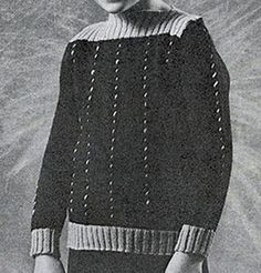 Boys Cable Knit Sweater pattern originally published in Childrens Sweaters, Doreen Knitting #111.