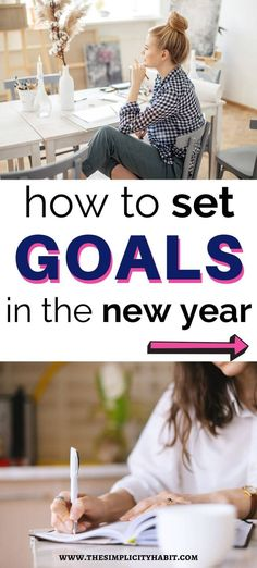 Are you ready to set goals but aren't sure where to start? This is how to set goals in the new year so you'll be more likely to achieve them. Reaching Goals, Achieving Goals, Achieve Your Goals, Making Goals, Self Actualization, Time Management Skills, Productivity Hacks, Setting Goals, Life Goals