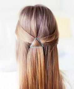 Bobby Pin Hairstyles: Geometric Pinnings