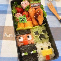 ☆*:.。. Minecraft themed bento .。.:*☆