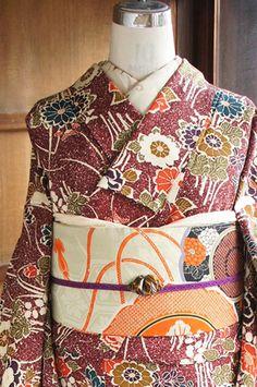 This is pretty fabulous coordination. Shimane, Ibaraki, Wakayama, Japanese Textiles, Japanese Patterns, Claude Monet, Vincent Van Gogh, Costumes Japan, Tottori