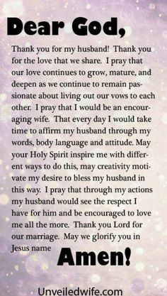 Quotes prayer for husband, love my husband, wife prayer, prayer for the d. Prayer For My Marriage, Prayer For The Day, Godly Marriage, Faith Prayer, Marriage Life, Happy Marriage, Love And Marriage, Marriage Help, Healthy Marriage