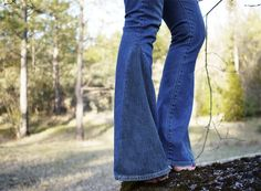 Turn skinny jeans into bell bottoms- might be cute with a patch of patterned fabric :)