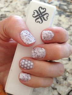 Grey and White Polka, Decorative Silver and White http://christinevelazquez.jamberrynails.net